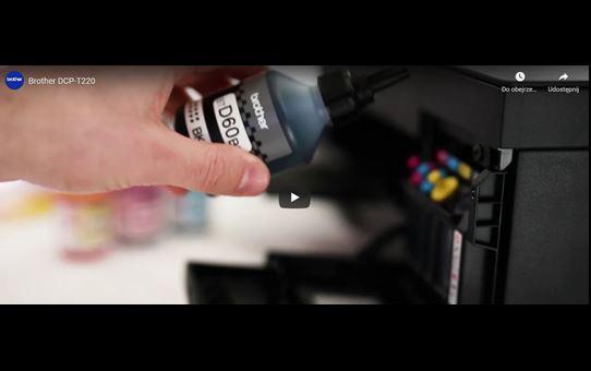 DCP-T220 barvna brizgalna večfunkcijska naprava 3-v-1 Brother InkBenefit Plus 8