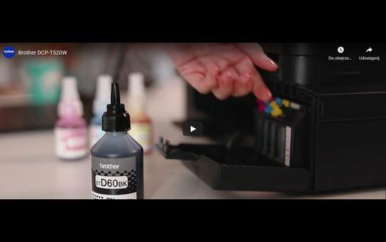 DCP-T520W tintni višenamjenski uređaj u boji 3-u-1 Brother InkBenefit Plus 8