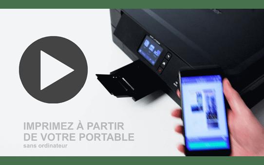DCP-J772DW petite imprimante jet d'encre couleur 3-en-1 avec wifi 7