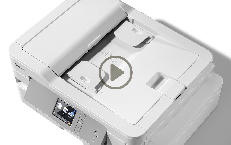 Wireless 4-in-1 Colour Inkjet Printer MFC-J1300DW All In Box Bundle 10