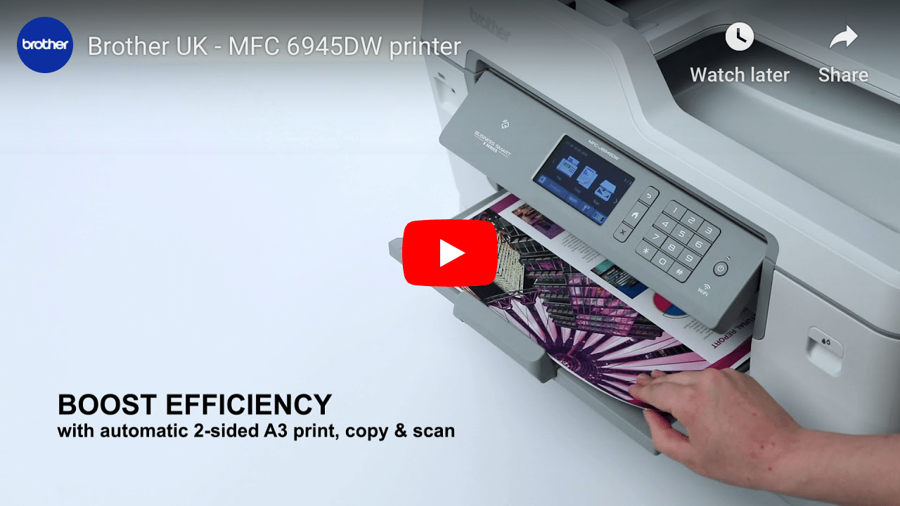 MFC-J6945DW Colour Wireless A3 Inkjet 4-in-1 Printer 7