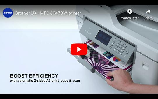 MFC-J6947DW Colour Wireless A3 Inkjet 4-in-1 Printer 8