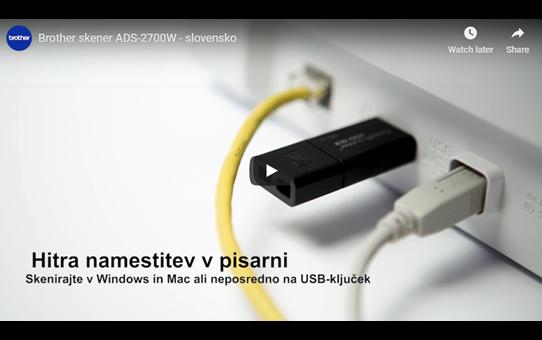 ADS-2700W brežični in žični namizni dokumentni skener  12