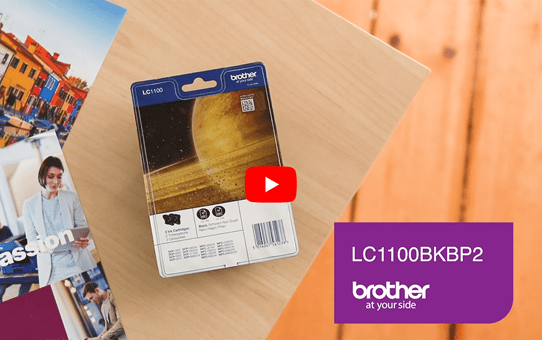 Genuine Brother LC1100BKBP2 Ink Cartridge Twin Pack - Black 5