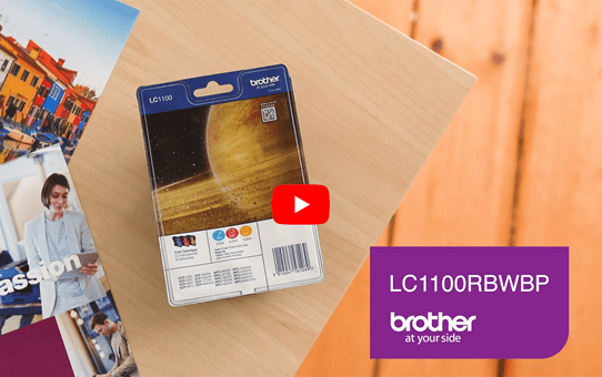 Genuine Brother LC1100RBWBP Ink Cartridge Rainbow Blister Pack 5