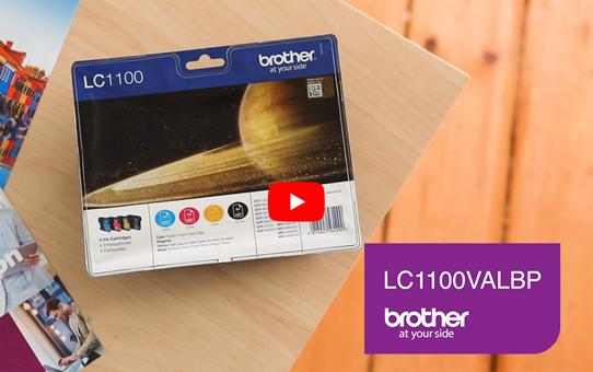 Brother LC1100VALBP inktpatronen pack - cyaan, magenta, geel en zwart 5