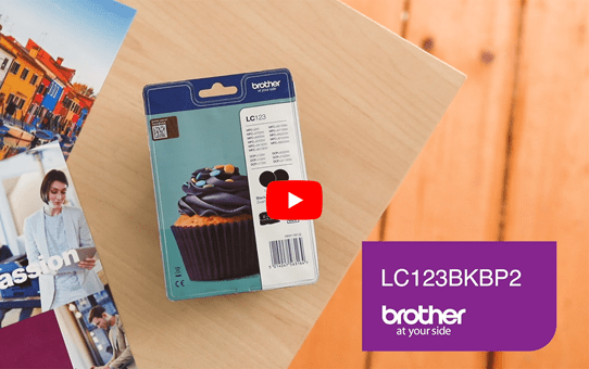 Original Brother LC-123BK Twin Pack 5