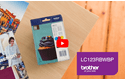 Genuine Brother LC123RBWBP Ink Cartridge Rainbow Blister Pack 5