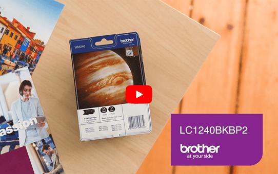 Originele Brother LC-1240BKBP2 zwarte inktcartridge voordeelverpakking met 2 cartridges 6