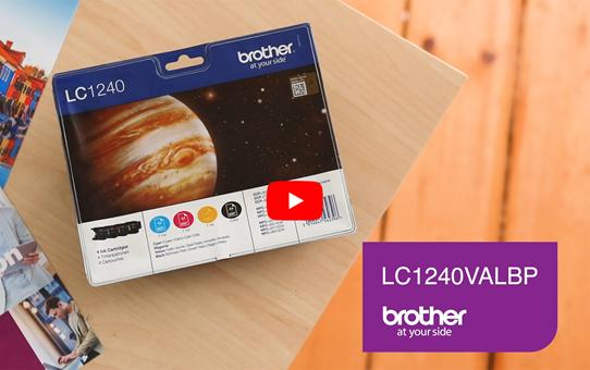 Genuine Brother LC1240 Ink Cartridge Multipack - LC1240VALBP 5