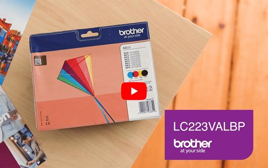 Pack de cartouches d'encre LC223VALBP Brother originales  5