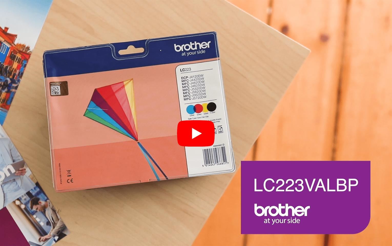Brother LC223VALBP Confezione 4 cartucce inkjet originali 5