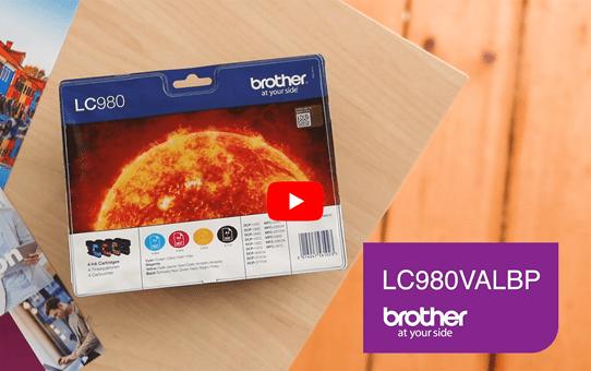 Originele Brother LC-980VALBP inktcartridge voordeelverpakking.  6