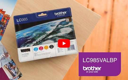 Genuine Brother LC985VALBP Ink Cartridge Multipack 6