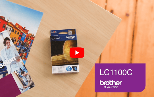 Brother LC1100C cartouche d'encre cyan 5