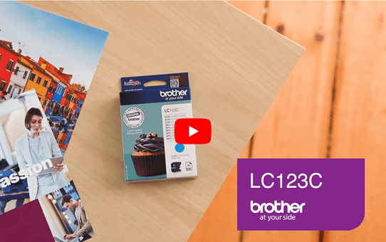 Brother LC123C cartouche d'encre cyan 5