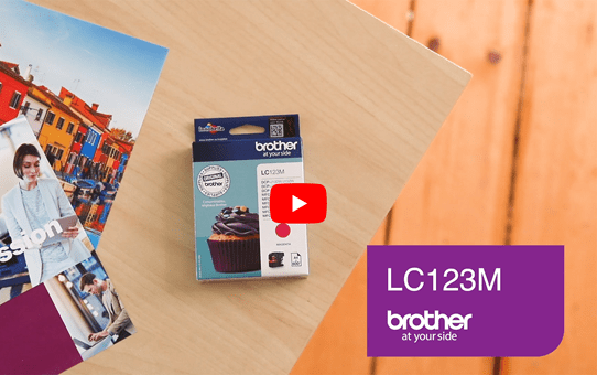 Originele Brother LC-123M magenta inktcartridge 5
