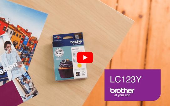 Brother LC-123Y Cartuccia inkjet originale - giallo 5