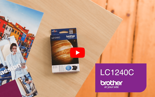 Originele Brother LC-1240C cyaan inktcartridge 5