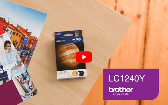 Originele Brother LC-1240Y gele inktcartridge  5