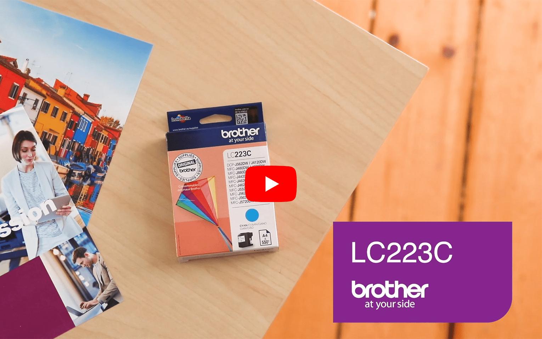 Brother LC223C Cartuccia inkjet originale - ciano 5