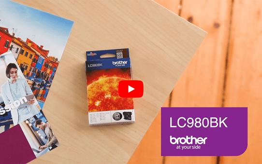 Cartouche d'encre LC980BK Brother originale – Noir  5