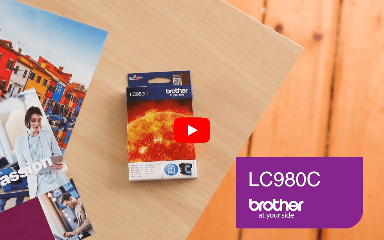 Brother LC-980C Tintenpatrone – Cyan 5