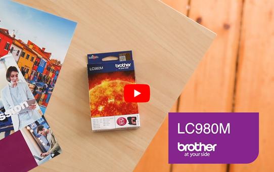Originele Brother LC-980M magenta inktcartridge 5