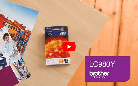 Originele Brother LC-980Y gele inktcartridge 5
