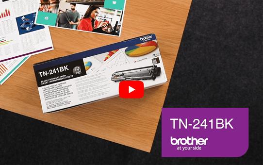 Originele Brother TN-241BK zwarte tonercartridge 5