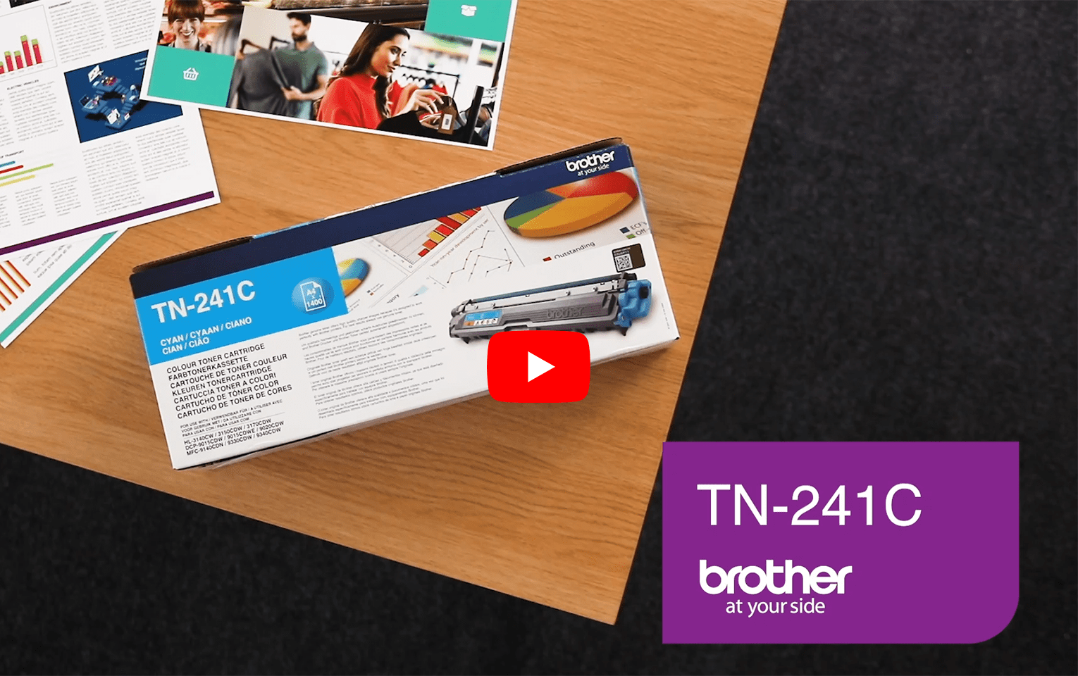 Brother TN241C toner cyan - rendement standard 5