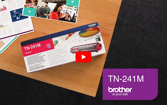 Originele Brother TN-241M magenta tonercartridge 5