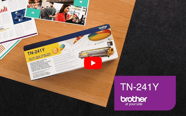 Genuine Brother TN-241Y Toner Cartridge – Yellow 5