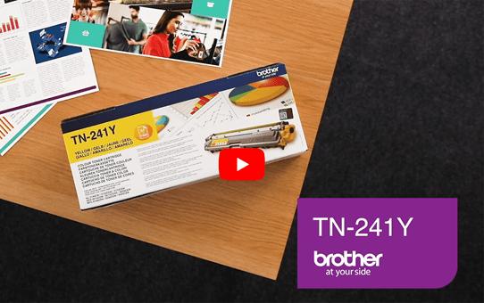 Originele Brother TN-241Y gele tonercartridge 5