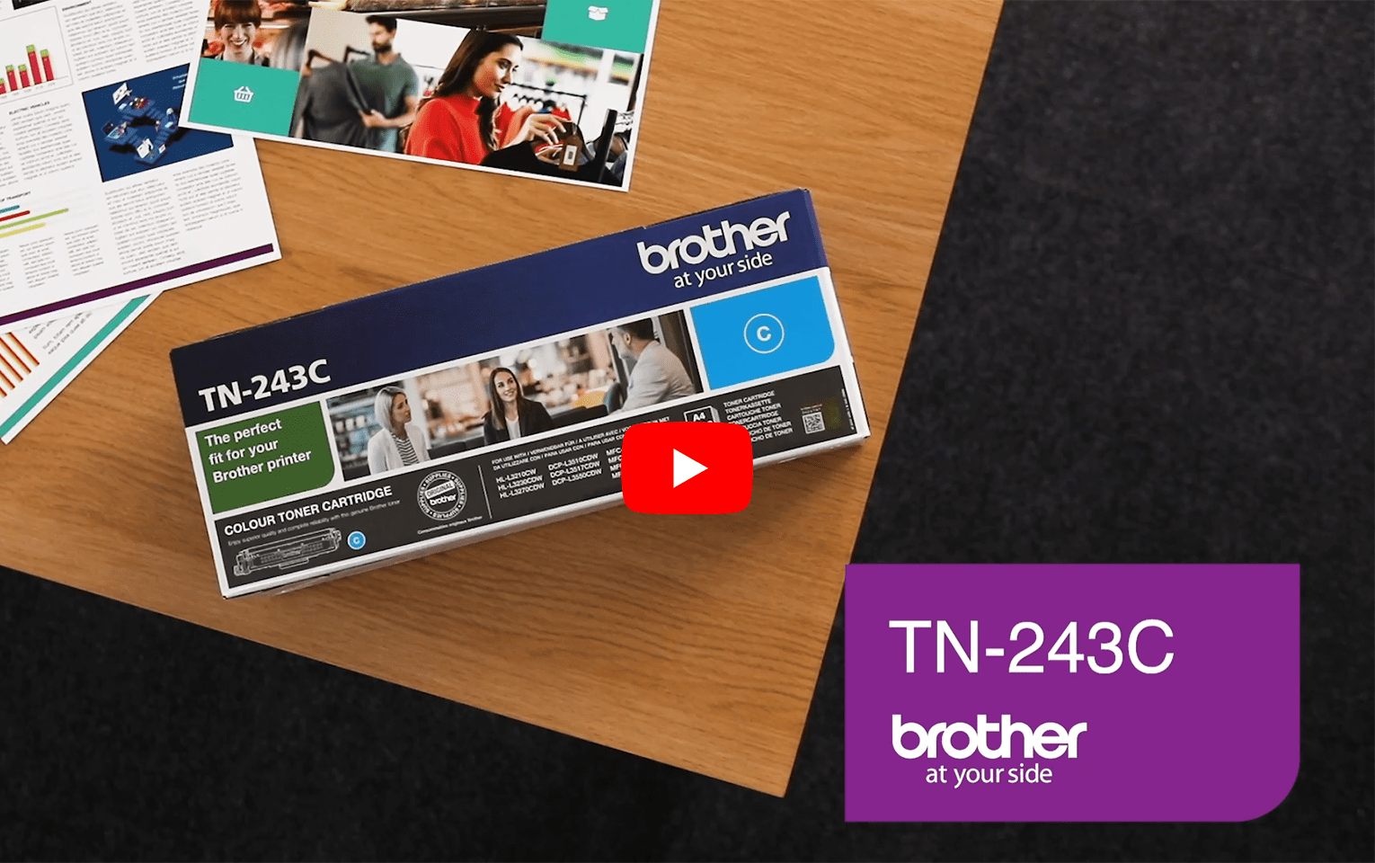 Genuine Brother TN-243C Toner Cartridge - Cyan 5