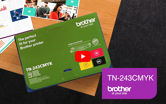 Genuine Brother TN-243CMYK Toner Value Pack 5