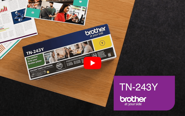 Genuine Brother TN-243Y Toner Cartridge - Yellow 5