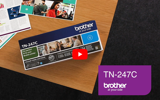 Genuine Brother TN-247C Toner Cartridge - Cyan 5