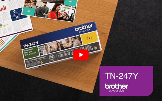 Genuine Brother TN-247Y Toner Cartridge - Yellow 5