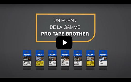 Cassette à ruban pour étiqueteuse TZe-FX221 Brother originale – Noir sur blanc, 9mm de large 4