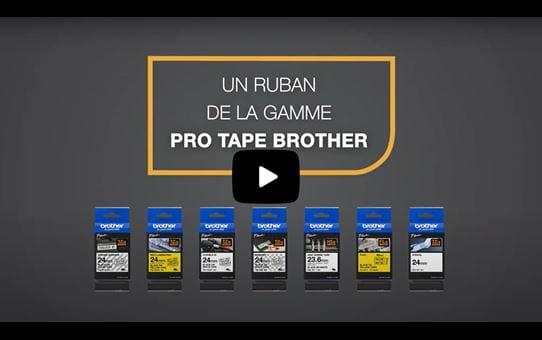 Cassette à ruban pour étiqueteuse TZe-FX251 Brother originale – Noir sur blanc, 24mm de large 4