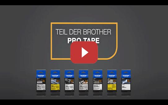 Brother TZe-FX611 Flexi-Tape – schwarz auf gelb 5