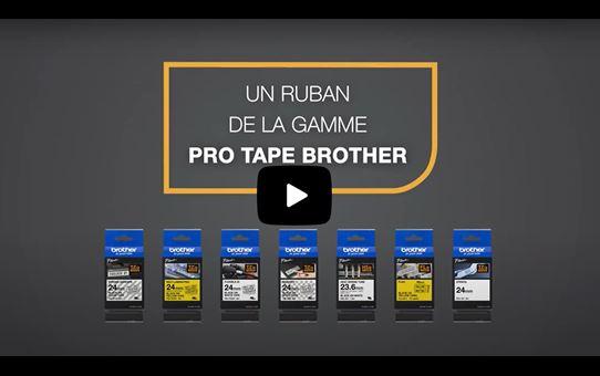 Cassette à ruban pour étiqueteuse TZe-FX661 Brother originale – Noir sur jaune, 36mm de large 4